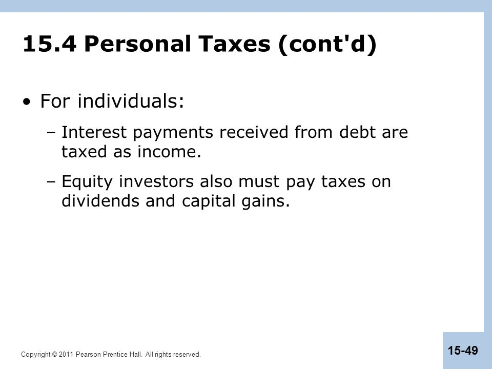 15.4 Personal Taxes (cont d)