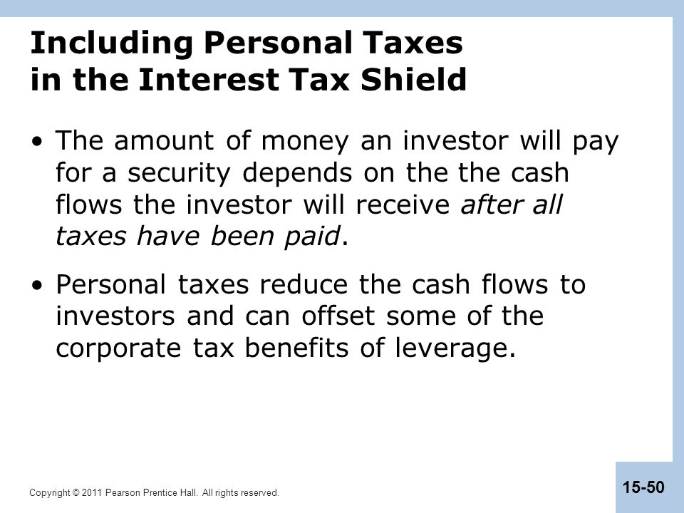 Including Personal Taxes in the Interest Tax Shield