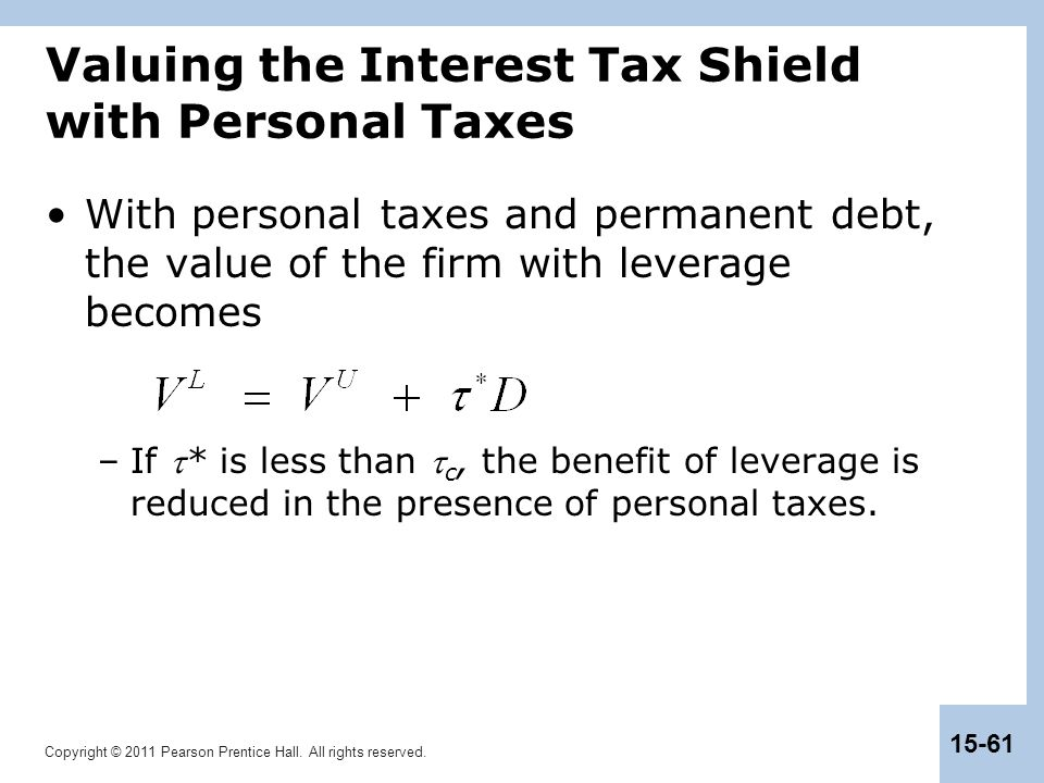 Valuing the Interest Tax Shield with Personal Taxes