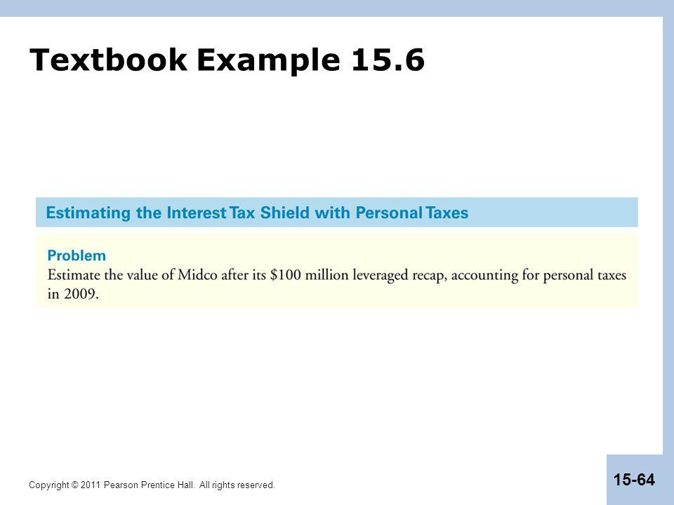 Textbook Example 15.6