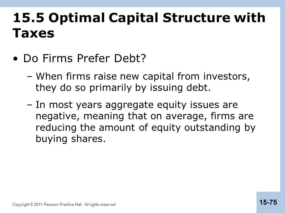 15.5 Optimal Capital Structure with Taxes