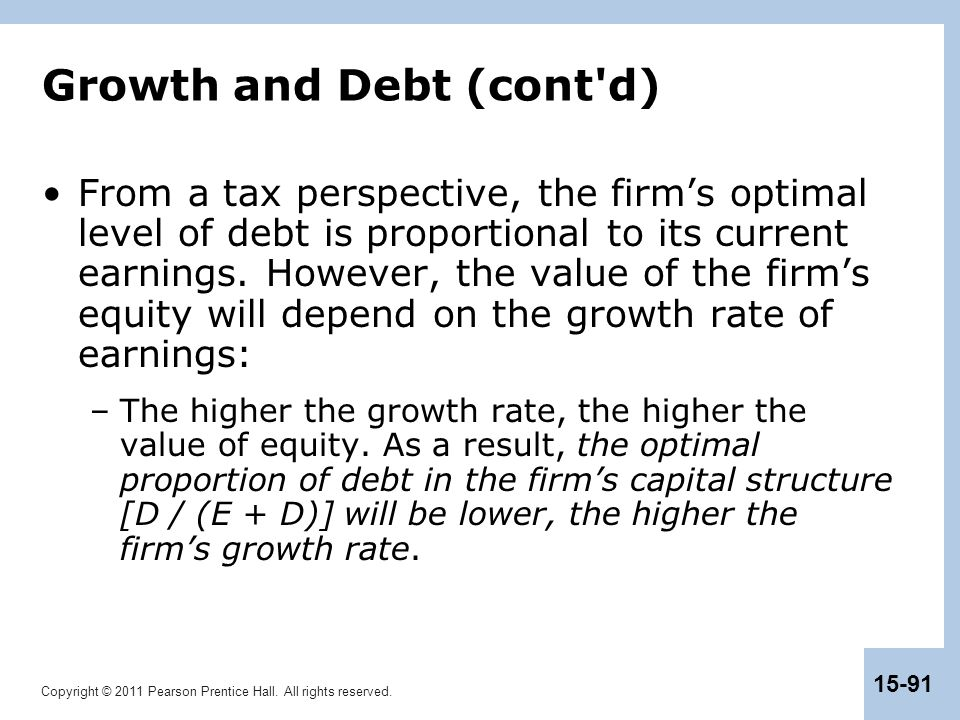 Growth and Debt (cont d)