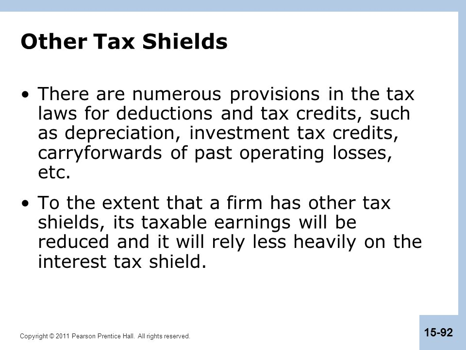 Other Tax Shields