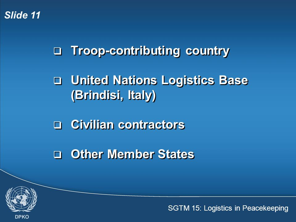 Troop-contributing country