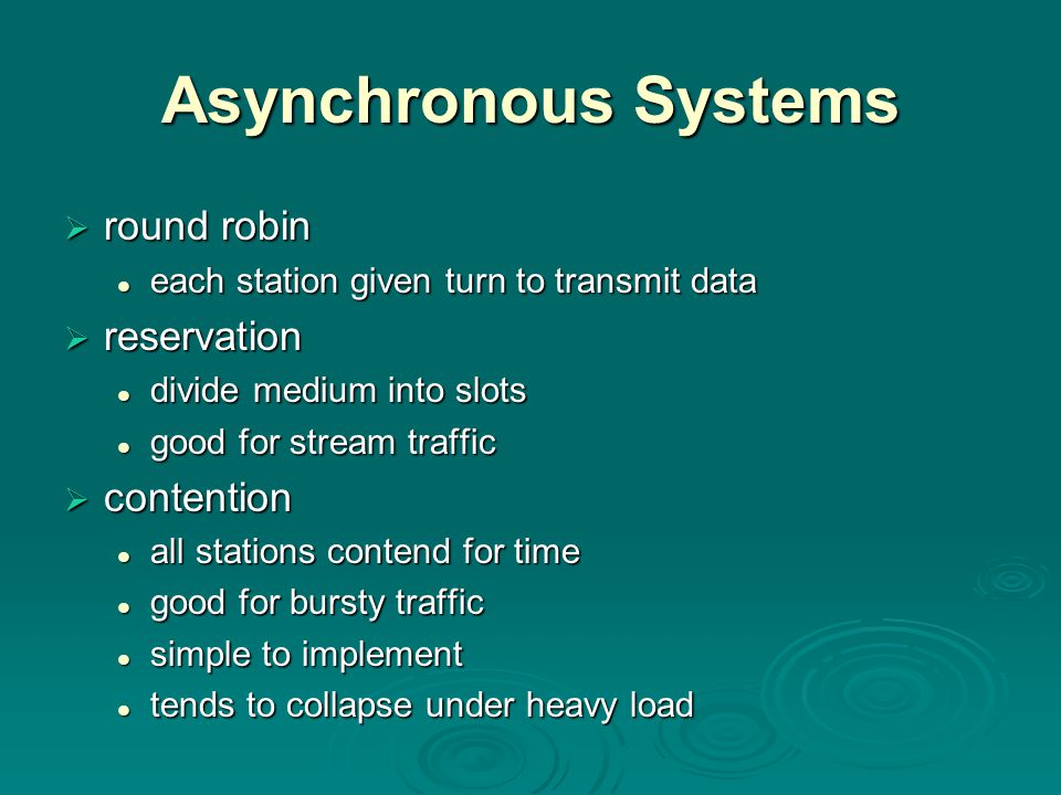 Asynchronous Systems round robin reservation contention