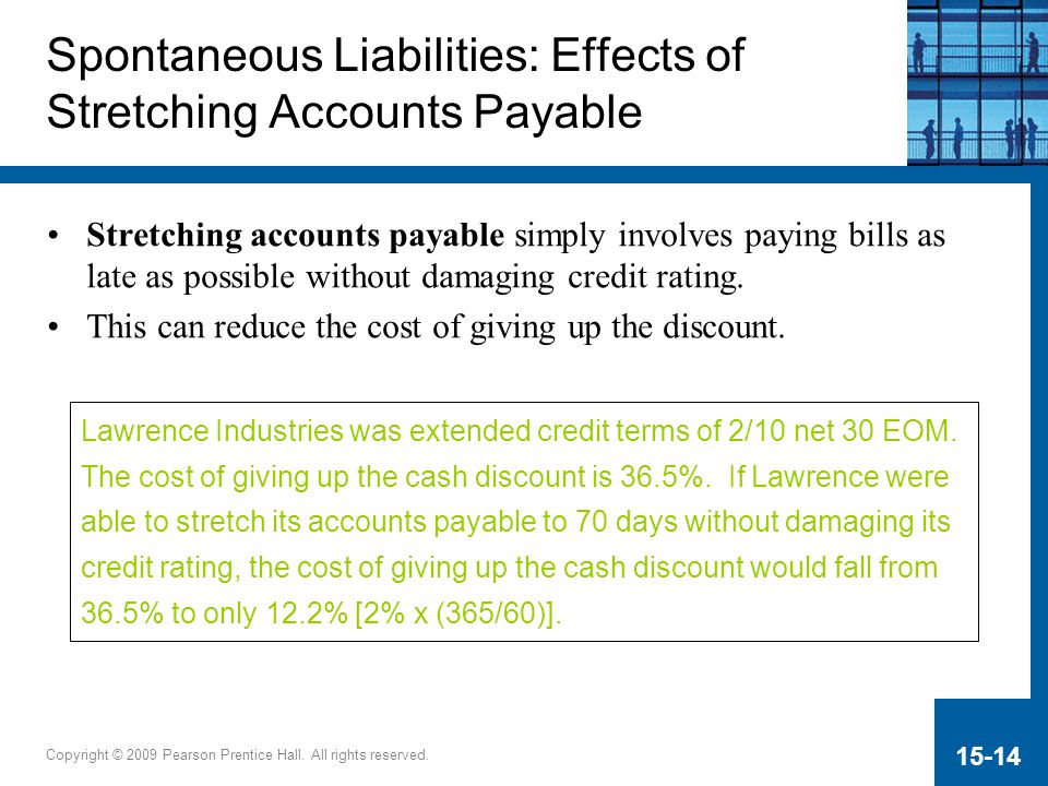 Spontaneous Liabilities: Effects of Stretching Accounts Payable