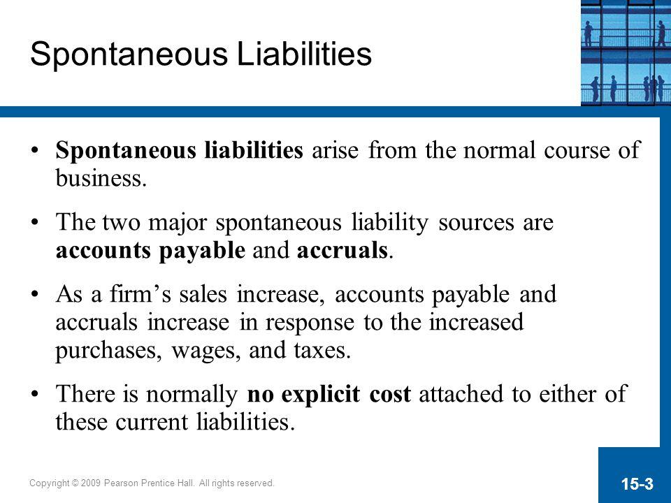 Spontaneous Liabilities
