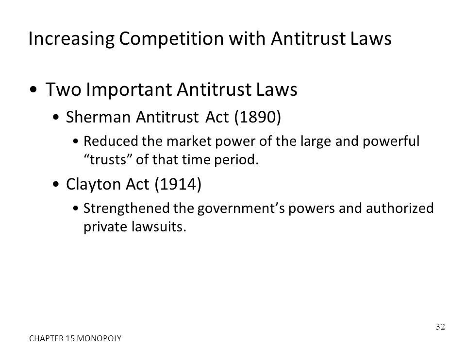 Increasing Competition with Antitrust Laws