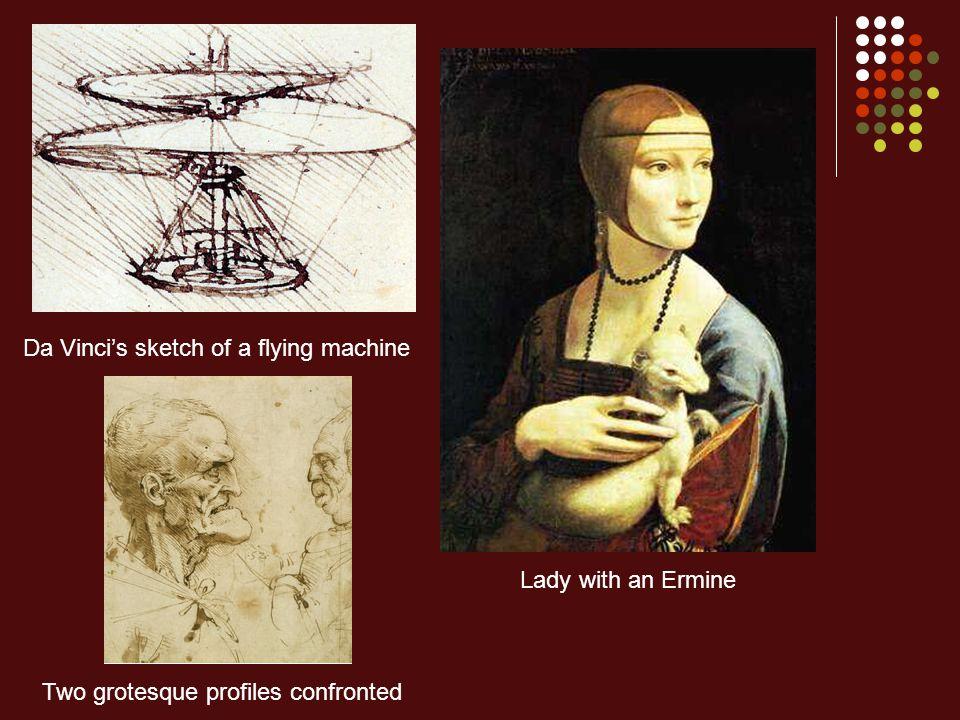 Da Vinci's sketch of a flying machine