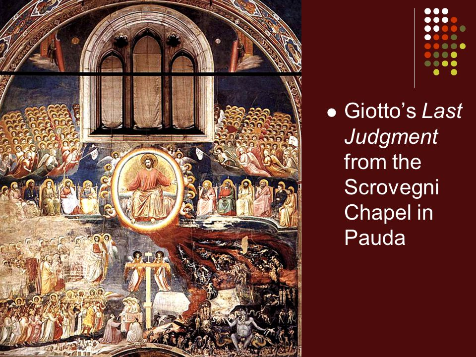 Giotto's Last Judgment from the Scrovegni Chapel in Pauda