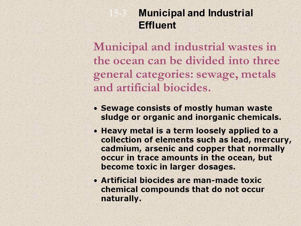 15-3 Municipal and Industrial Effluent.