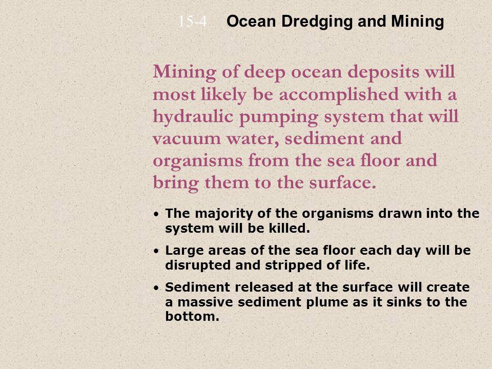 15-4 Ocean Dredging and Mining.