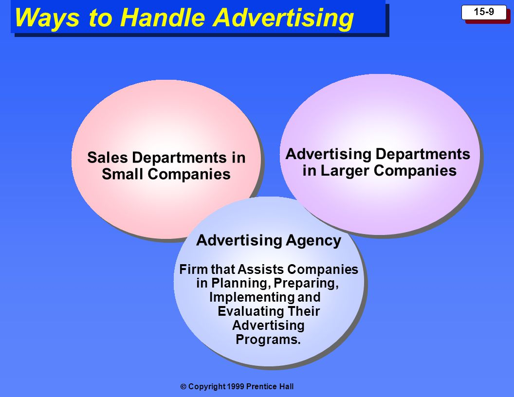 Advertising Departments Firm that Assists Companies