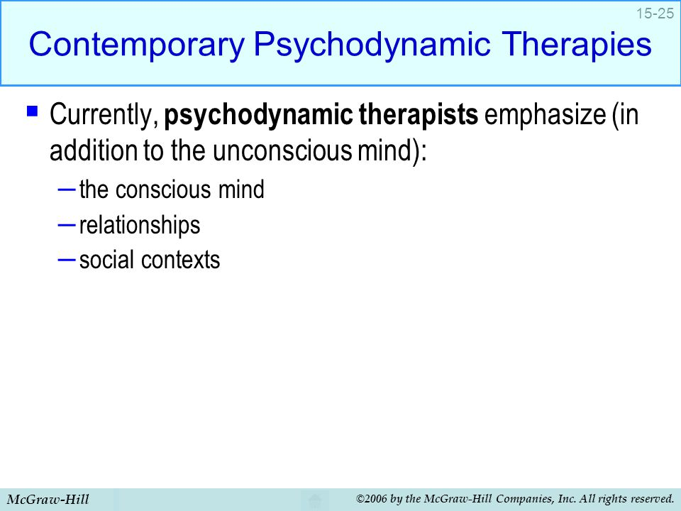 Contemporary Psychodynamic Therapies