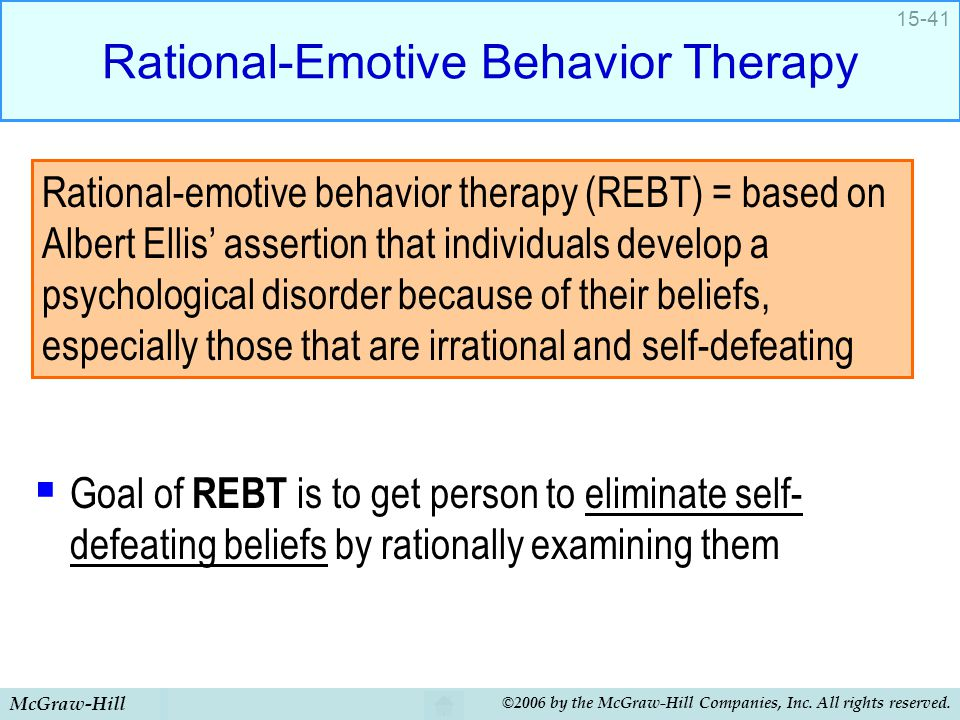 Rational-Emotive Behavior Therapy
