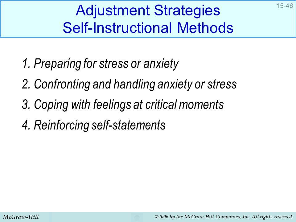 Adjustment Strategies Self-Instructional Methods