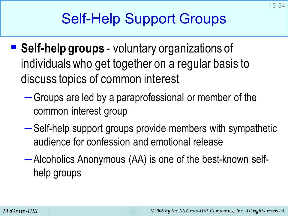 Self-Help Support Groups