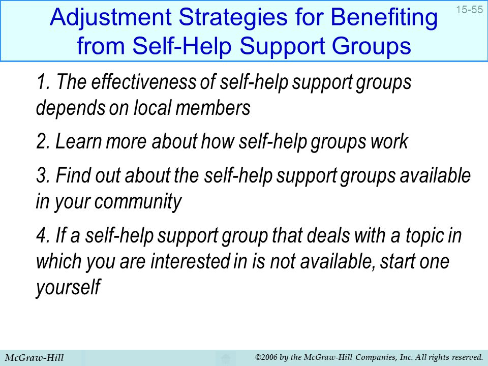 Adjustment Strategies for Benefiting from Self-Help Support Groups