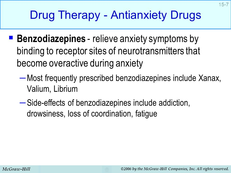 Drug Therapy - Antianxiety Drugs