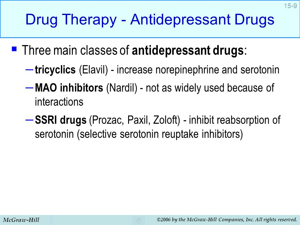 Drug Therapy - Antidepressant Drugs