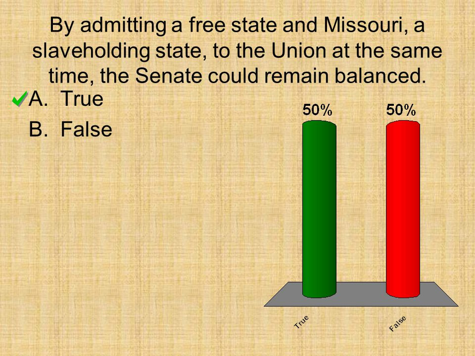 By admitting a free state and Missouri, a slaveholding state, to the Union at the same time, the Senate could remain balanced.