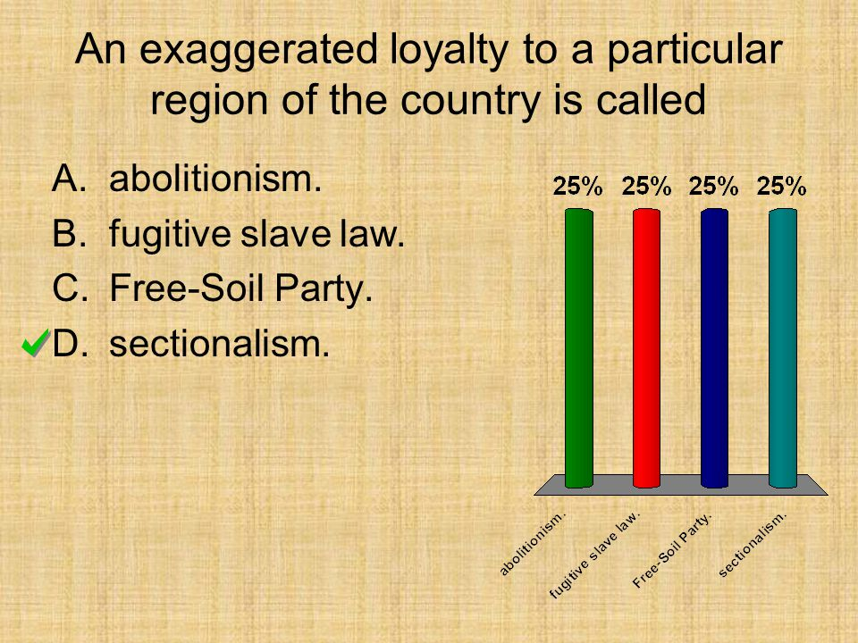 An exaggerated loyalty to a particular region of the country is called