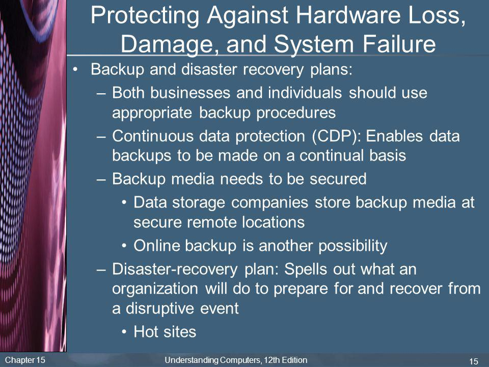Protecting Against Hardware Loss, Damage, and System Failure