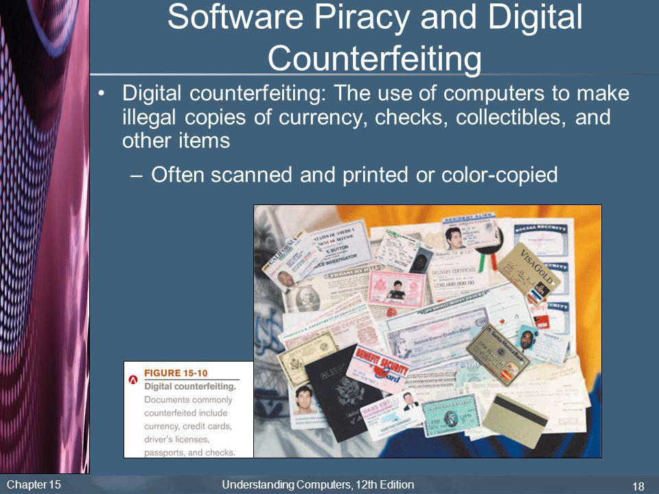 Software Piracy and Digital Counterfeiting