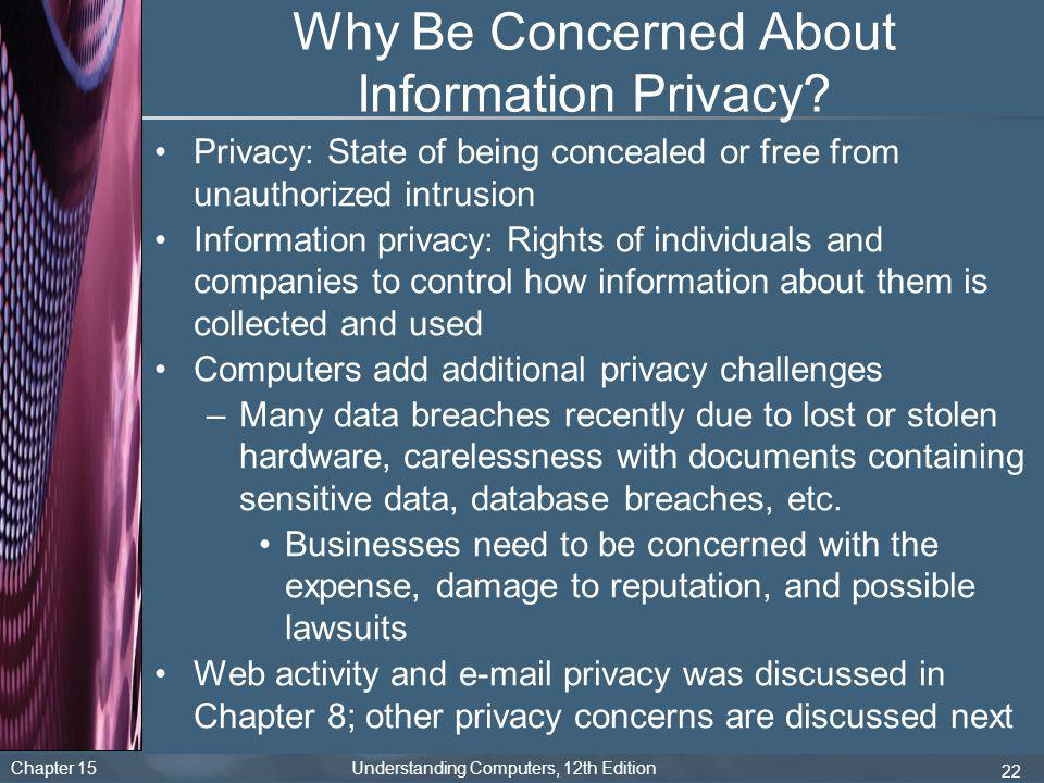 Why Be Concerned About Information Privacy