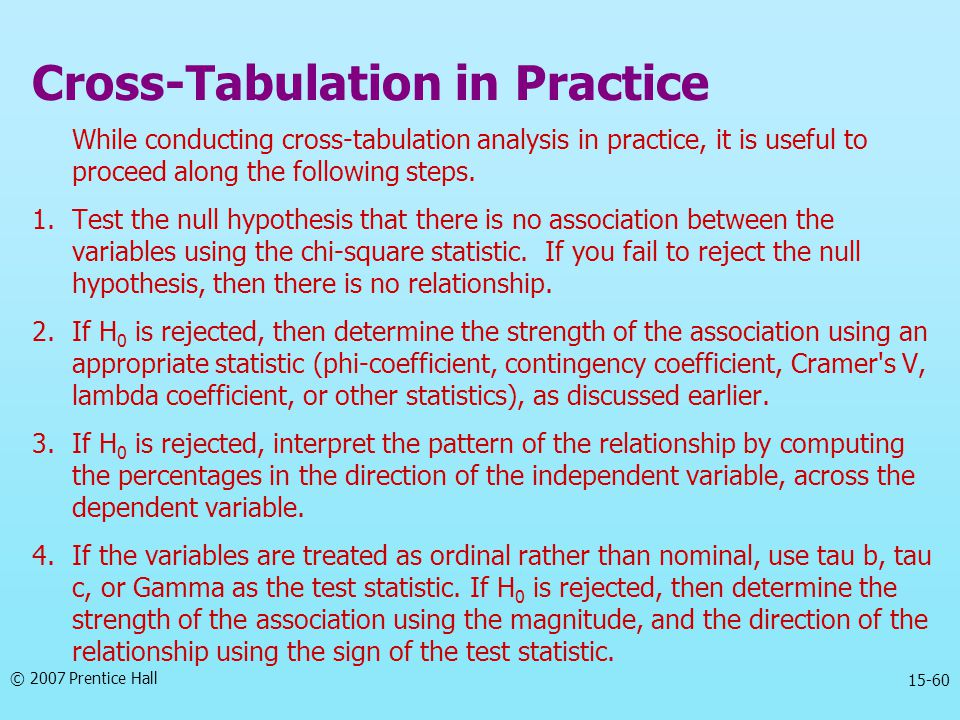 Cross-Tabulation in Practice