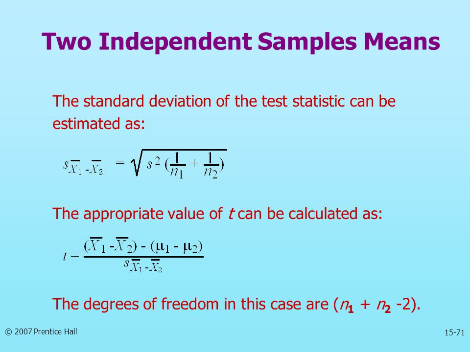 Two Independent Samples Means