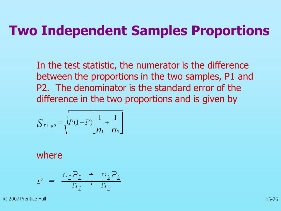 Two Independent Samples Proportions