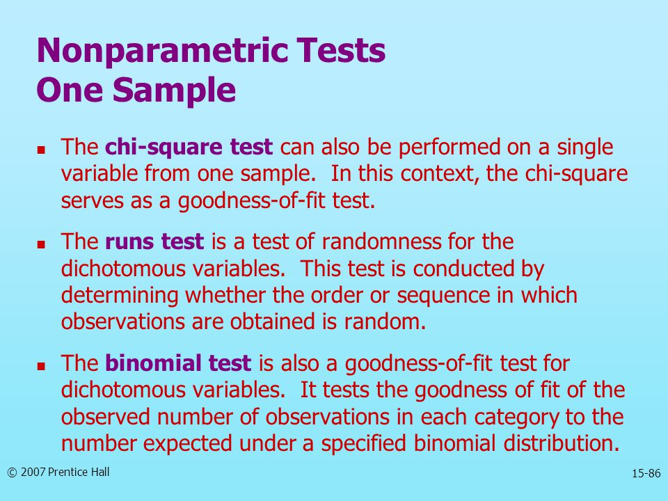 Nonparametric Tests One Sample