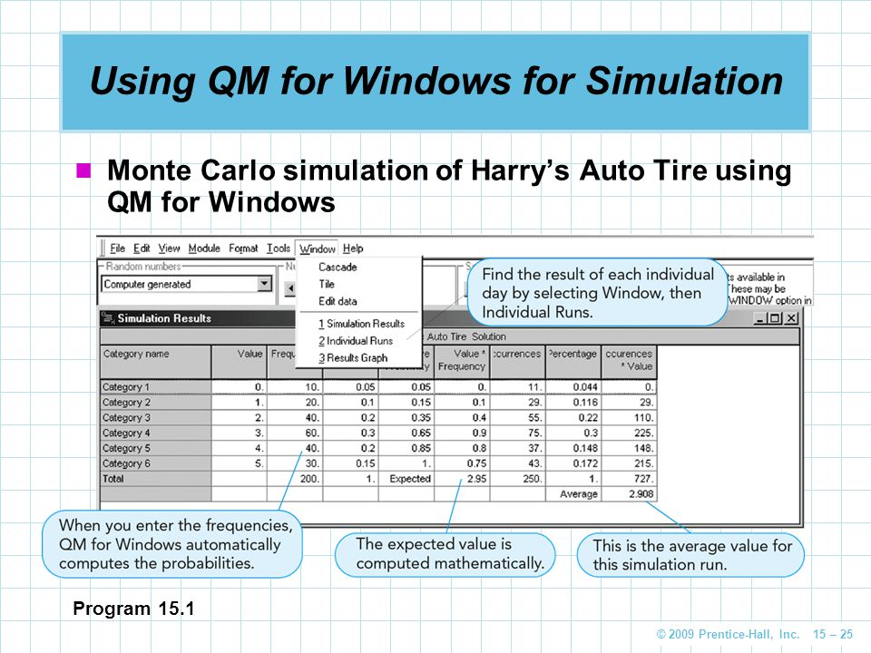 Using QM for Windows for Simulation