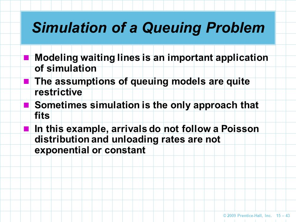 Simulation of a Queuing Problem