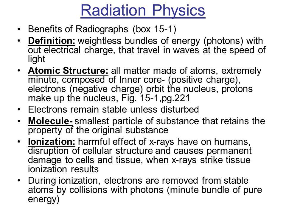 Radiation Physics Benefits of Radiographs (box 15-1)