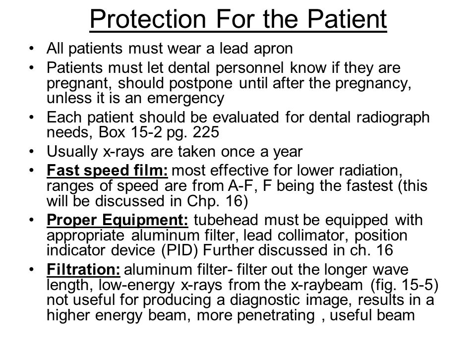 Protection For the Patient