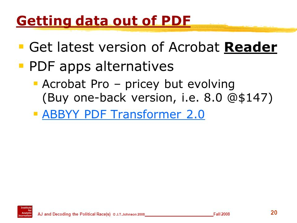 Get latest version of Acrobat Reader PDF apps alternatives