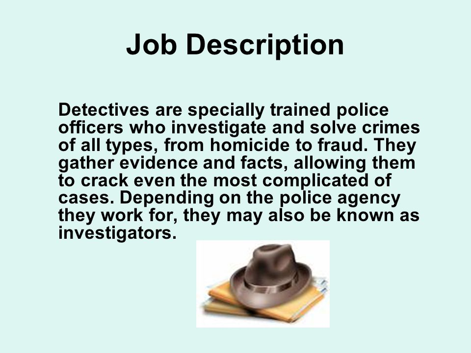 job description - Description Of A Crime Scene Investigator
