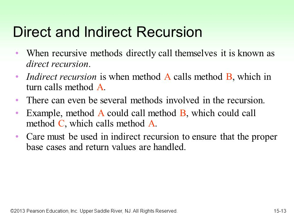Direct and Indirect Recursion