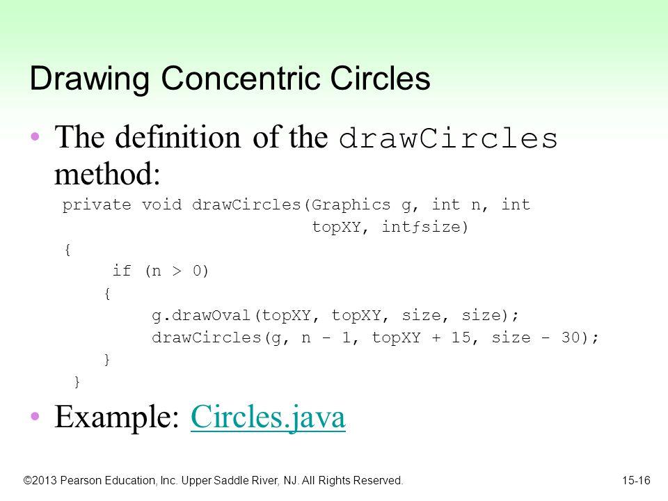 Drawing Concentric Circles