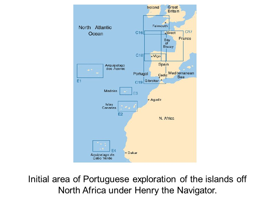 Initial area of Portuguese exploration of the islands off
