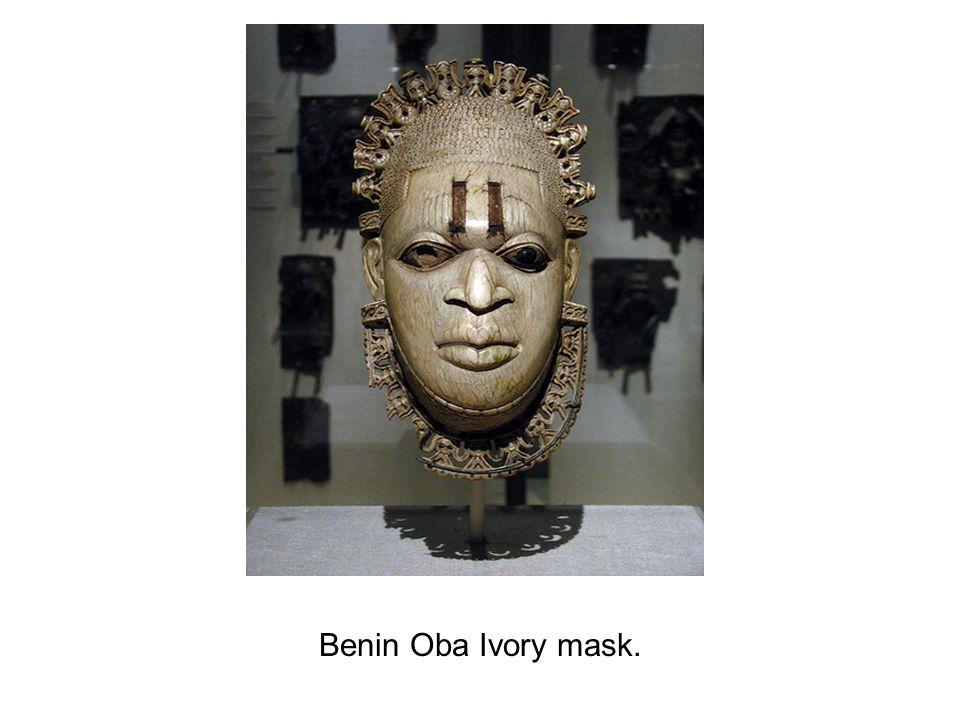 Benin Oba Ivory mask.