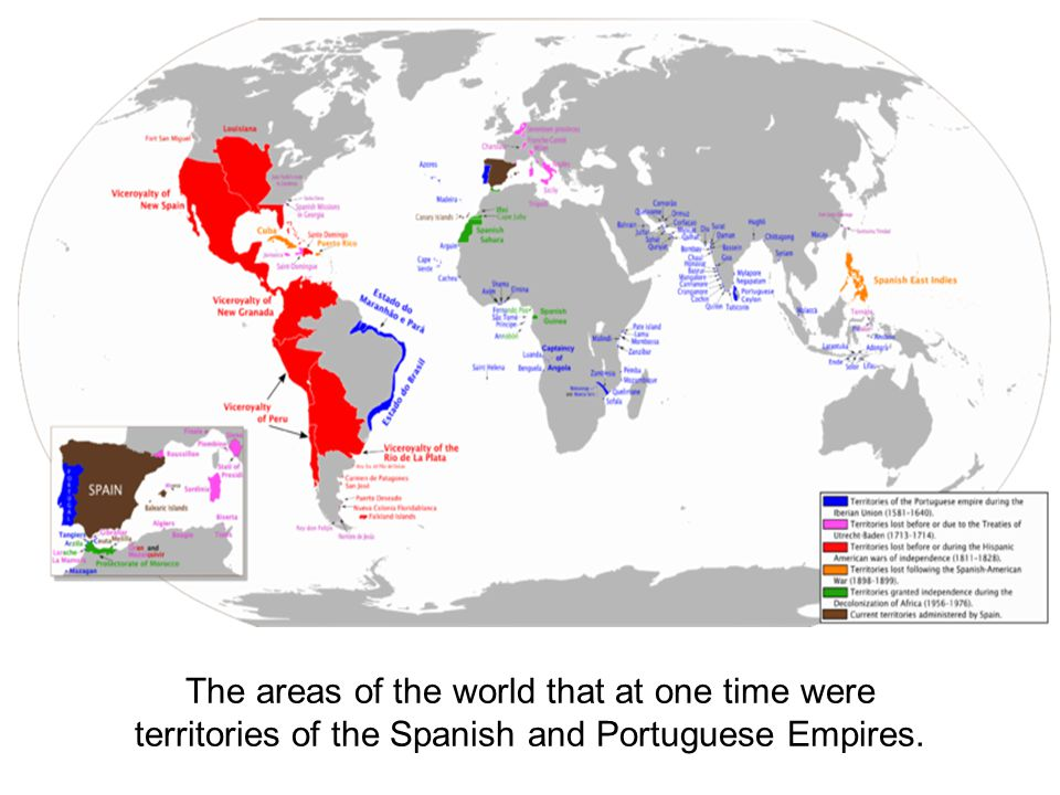 The areas of the world that at one time were