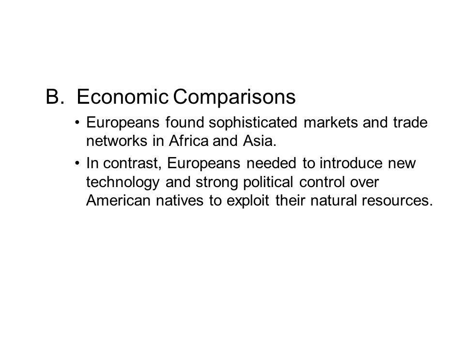 B. Economic Comparisons