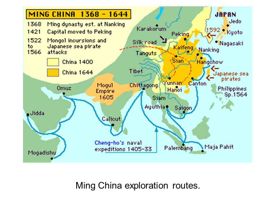 Ming China exploration routes.