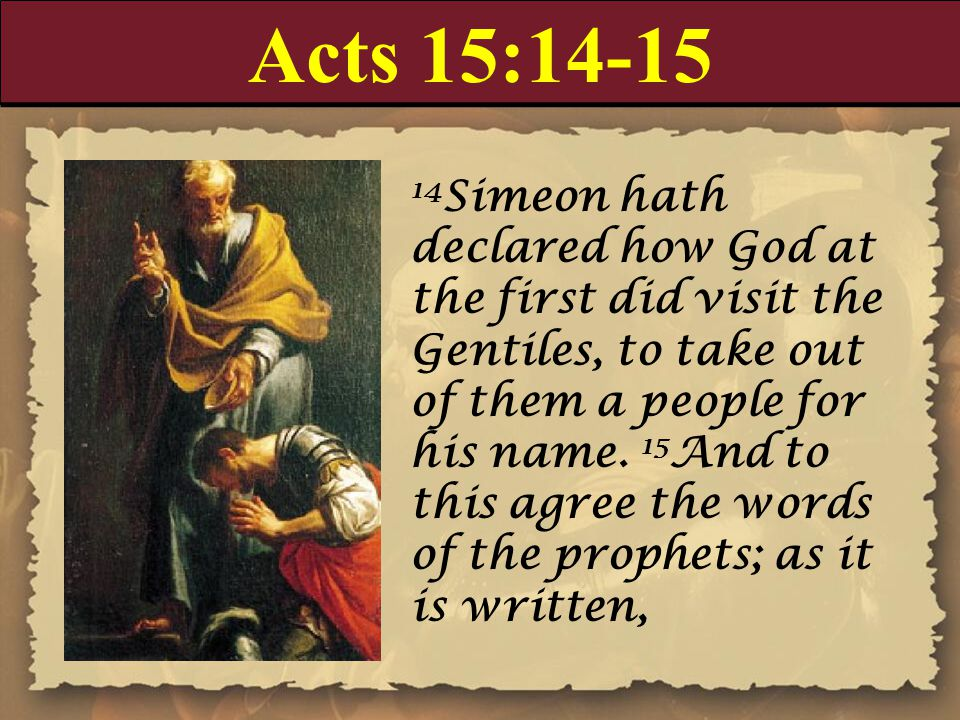 Acts 15:14-15