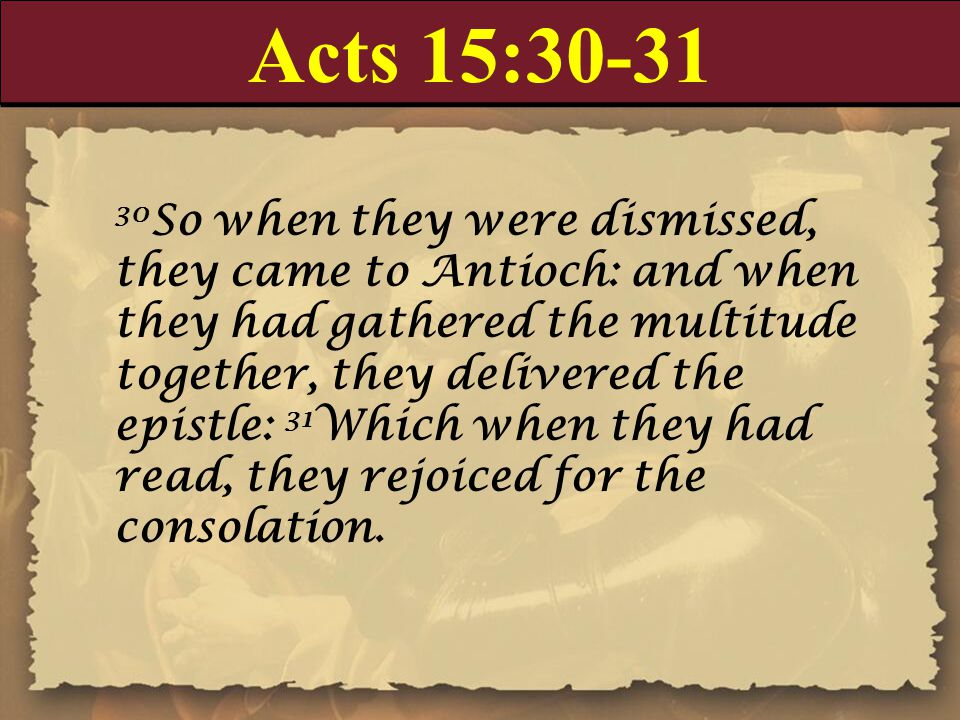 Acts 15:30-31
