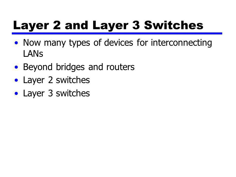 Layer 2 and Layer 3 Switches