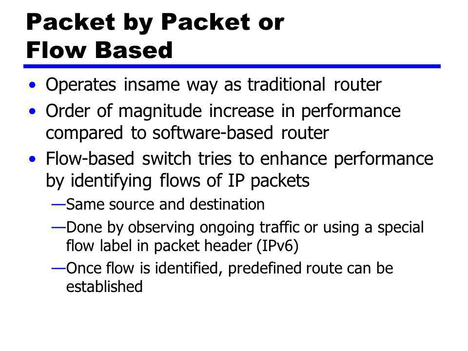 Packet by Packet or Flow Based